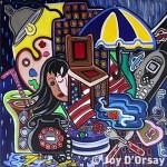Call Me | 24x24 | Acrylic on Canvas | 1996