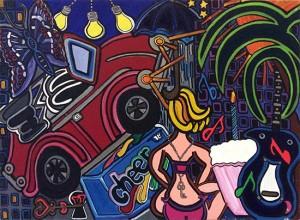 """Good Feelings   18"""" X 24""""   Acrylic on Canvas   1997"""