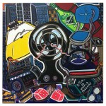 "Heat Wave | 30"" X 30"" | Acrylic on Canvas | 1999"