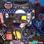 "Jump into the Everyday | 42"" X 42"" | Acrylic on Canvas | 1992"