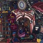 "Living Room Part II | 40"" X 30"" | Acrylic on Canvas | 2008"