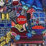 "Rainy Day | 16"" X 18"" | Acrylic on Canvas"