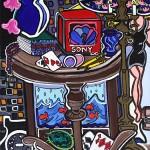 "Struggle for higher achievement | 16"" X 18"" | Acrylic on Canvas | 1998"