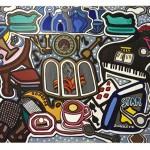 "The Living Room | 40"" X 30"" | Acrylic on Canvas | 1989"