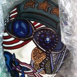 Warrior 2 | Acrylic on Clay Mask