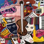 "Culture Craze   30"" X 40""   Acrylic on Paper   1978"