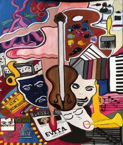 "Culture Craze | 30"" X 40"" | Acrylic on Paper | 1978"