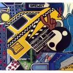 "NY Ying Yang | 24"" X 26"" | Acrylic on Paper | 1996"