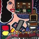 "Nobody's Home   30"" x 40""   Acrylic on Paper   1983"