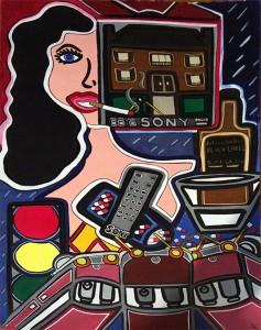 "Nobody's Home | 30"" x 40"" | Acrylic on Paper | 1983"