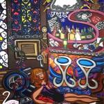 "Paris Bistro I   23"" X 30""   Acrylic on Paper   2007"
