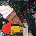 """Summer Time Virgin   30"""" x 40""""   Acrylic on Paper   1987"""