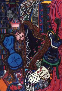 """Tranquility in Twilight   23"""" X 30""""   Acrylic on Paper   2008"""