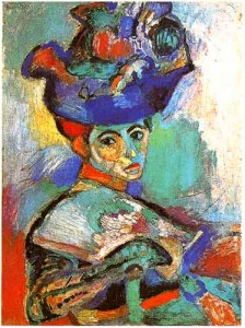 Colorful Matisse painting of lady