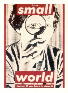 small-world-by-barbara-kruger